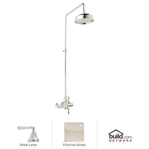 Rohl AKIT49172LHPN Country Bath Shower System with Exposed Thermostatic Valve, Polished Nickel