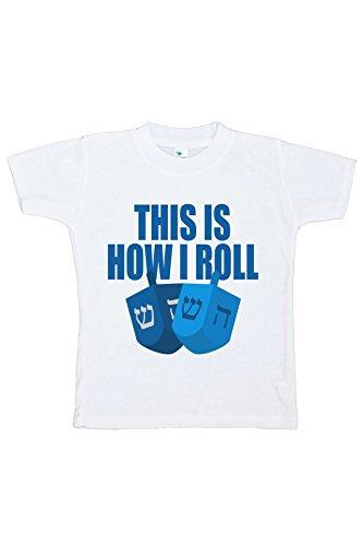 Custom Party Shop Baby's How I Roll Funny Hanukkah T-shirt 2T - Funny Custom Toddler Tee