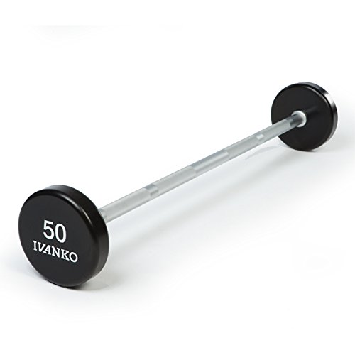 Ivanko URETHANE BARBELL Set with Chrome Straight Bars - 20-110 lb. Set (Curling Bar Weight Set compare prices)