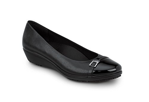 (SR MAX Isabela Women's Slip Resistant Dress Wedge Shoe (9.0 M, Black))