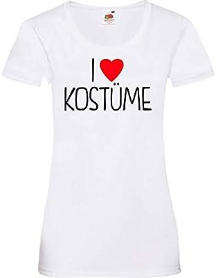 camisa de la señora ShirtInStyle I Love Disfraces Verkleidet Disfraz De Carnaval Revestimiento muchos colores camiseta de culto XS-XL - Blanco, XL: Amazon.es: Juguetes y juegos