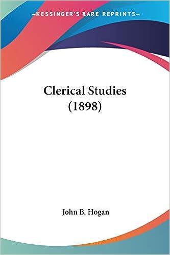 Amazon.com: Clerical Studies (1898) (9780548723241): Hogan, John B ...