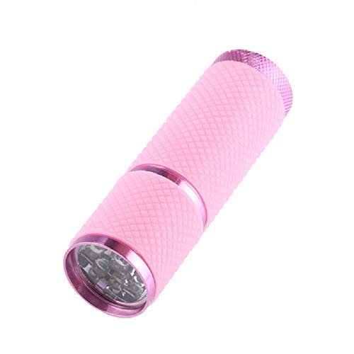 ( Orcbee  _Mini Super Bright Torch Water Resistant Rubber Coated Body 9 LED Flashlight (Pink))