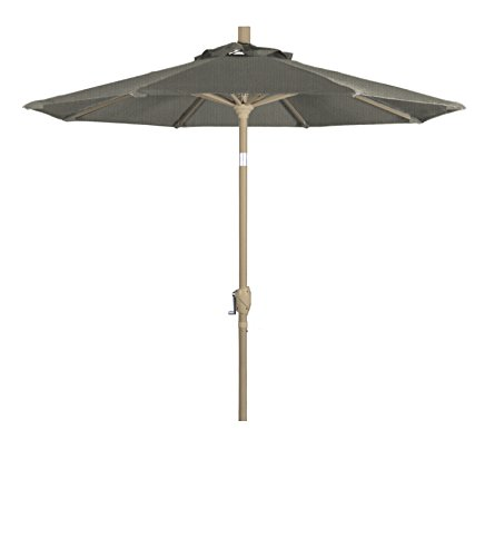 (Eclipse Collection 7.5' Aluminum Market Umbrella Push Tilt M Champagne/Sunbrella/Spectrum Dove)