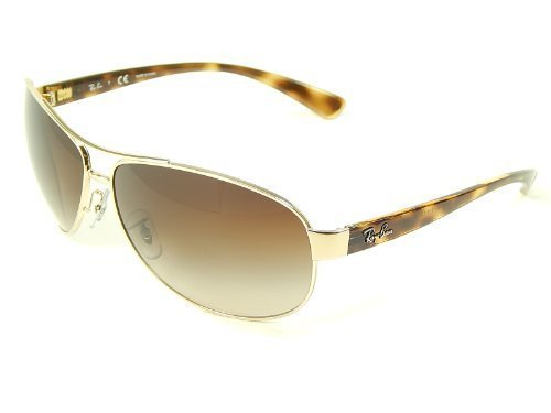 Authentic Ray Ban Sunglasses - New Ray Ban Oversized Aviator RB3386 001/13 Gold/Brown Grad Lens 63mm Sunglasses