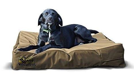 Dog Doza Colchón de Cama Impermeable para Perros Mayores, tamaño pequeño a Mediano, Color Beige: Amazon.es: Productos para mascotas