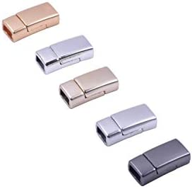 KONMAY 5 Sets 6.0mmx3.0mm Tiny Magnetic Jewelry Clasps for Bracelet Making Golden
