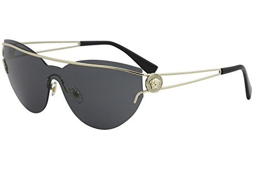 Versace Women's Manifesto Sunglasses, Pale Gold/Grey, One Size by Versace