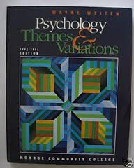Psychology Themes & Variations 2003 - 2004 Edition