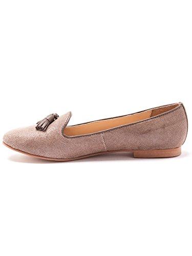 Balsamik - Zapatos de piel estampado pitón, ancho grande - Mujer Beis