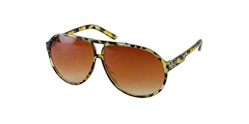 Designer Fashion Retro Salamander Plastic Frame Aviator Sunglasses Large (Salamander Frame)