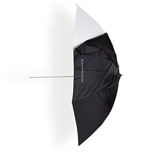 (UNPLUGGED STUDIO 43inch White/Shoot Through Convertible Umbrella (Satin Fabric) UN-046)