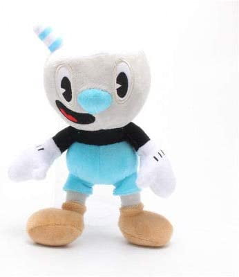1 Pcs Cuphead Mugman Plush Toy Mecup And Brocup Soft Stuffed Doll 25cm