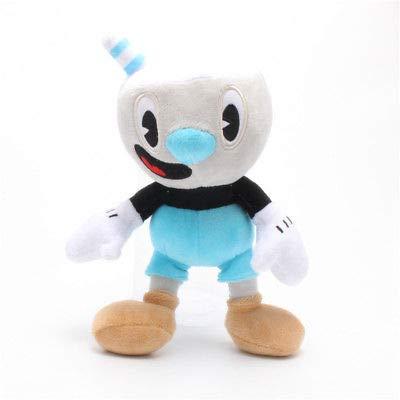 FidgetGear Cuphead Plush Toys Cuphead Mugman Mecup and Brocup Soft Stuffed  Doll Kids 25cm Blue