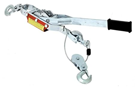 Capacity T32054 Torin Big Red Come-Along Double Gear Hand Cable Puller with 3 Hooks 4 Ton 8,000 lb