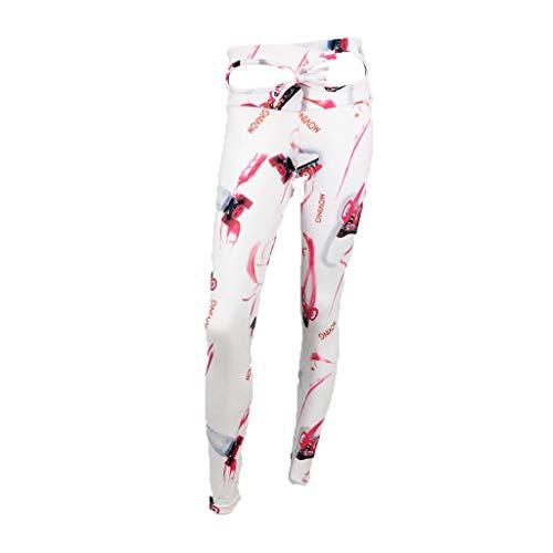 Sexy Yoga Pants Women nikunLONG Digital Printed Shorts High Waist Fast Drying Sports Pants Tummy Control nikunLONG White