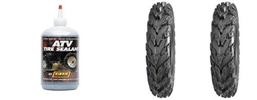 (Set of 2 QUADBOSS QBT672 Front Tires 26x9R-12 8-ply with Sealant)