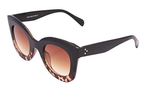 FEISEDY Oversized Square Men Women Sunglasses Thick Plastic Frame - Sunglasses Oversized Plastic