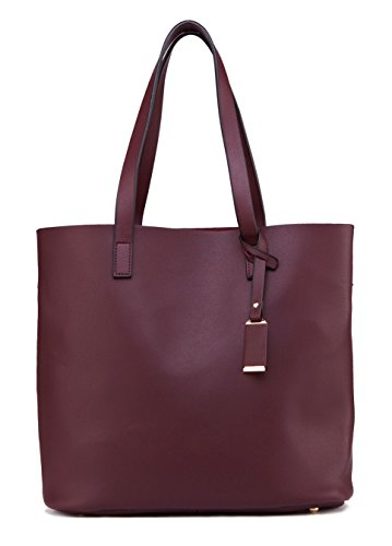 Bags Pure Capacity Pures Bag Large Leather Shoulder Color Ilishop Pu Winered Tote Handbag classical Designer HwUaSqF