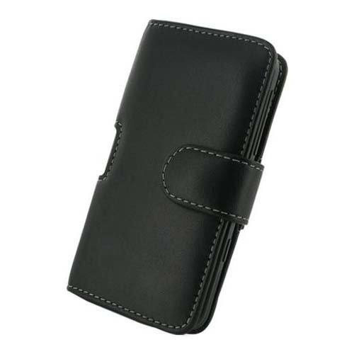 Monaco HTC Titan Monaco Horizontal Pouch Type Leather Case - Retail Packaging - -