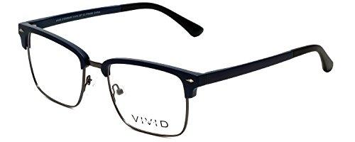 Vivid 257 Designer Reading Glasses in Navy - Glasses Navy In The