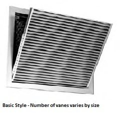30 X 20 (Duct Opening Size) Air Return Filter Grille Steel Bar Face (Color-White)