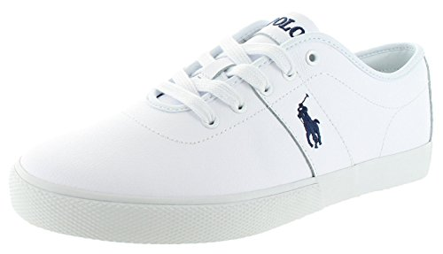 Ralph Lauren Polo Halford Men's Leather Sneakers White Size - Ralph Lauren Polo Us Is
