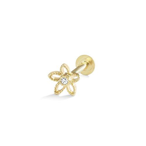 ONDAISY Cz Stainless Steel Cute 16g Cartilage Tragus Helix Flower Ear Studs Labret jewelry Piercing Earring