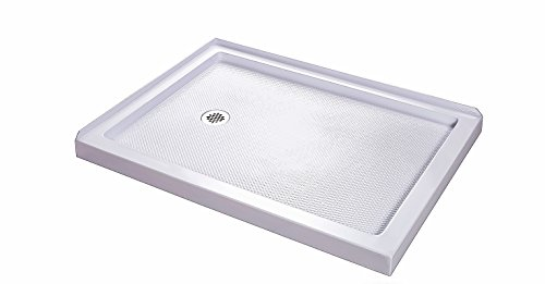 DreamLine SlimLine 34 in. x 48 in. Double Threshold Shower Base, Left Hand Drain, DLT-1034481
