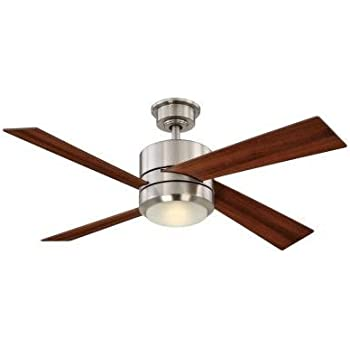Home decorators collection healy 48 in led brushed nickel Home decorators petersford fan