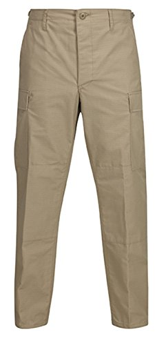 Propper BDU Trouser Button Fly Long Length Inseam 32.5-35.5 Khaki XXLL (International Cotton Propper Trousers)