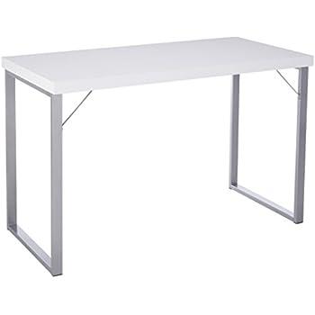 amazon com monarch i 7154 metal computer desk 48 white kitchen rh amazon com white metal desk chair white metal desk with drawers