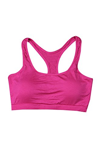 Secret Paradise–Sujetador de las mujeres de color fluorescente deporte sujetador acolchado Fitness espalda cruzada chaleco Blue/Light Green/Rose