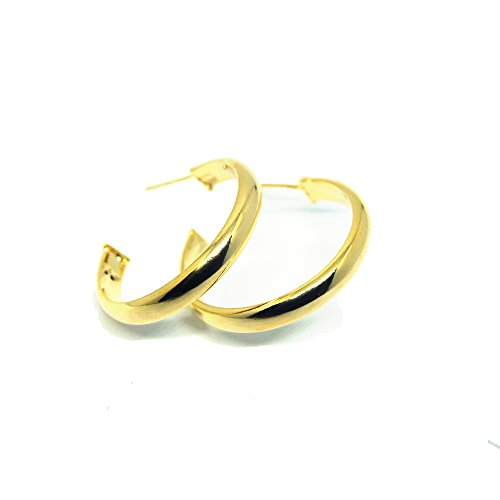 VIVA 18K Gold Plated Round Hoop Earrings ()
