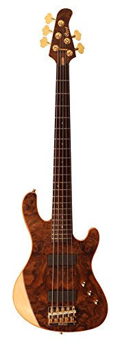 Cort Jeff Berlin Series Rithimic V Bass Guitar Gloss Natural Rosewood Bass Guitar Natural Gloss