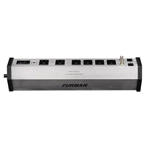 Furman PST-6 15-Amp Aluminum Chassis 6-Outlet Cable and Telco Protection Standard Level Power Conditioning (Telco Line)