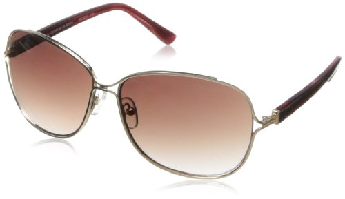 O by Oscar de la Renta Eyewear Women's SSC4029 Square Sunglasses,Gold & Berry,174 - De Renta Oscar Sunglasses