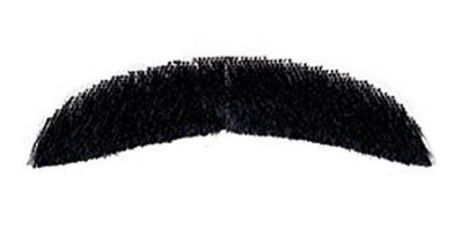 City Costume Wigs Black Freddie Mercury Burt Reynolds Downturn Human Hair Mustache
