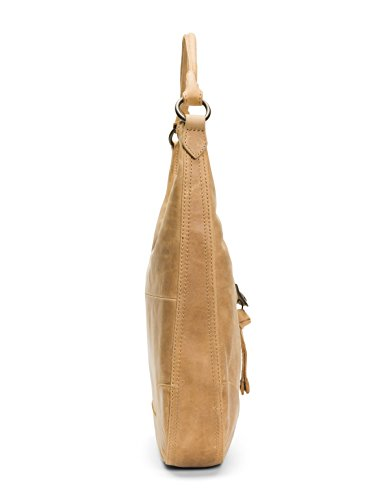 FRYE Beige Leather Handbag Zip Melissa Hobo 7wpH17Fq