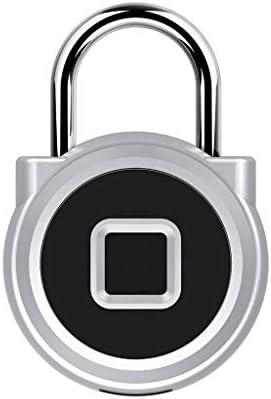 指紋 南京錠, USB 充電式 IP65 防水, スマート 南京錠 あり キーレス 生体認証 ふさわしい にとって で, 荷物, スーツケース, バックパック, 自転車, 事務所-銀