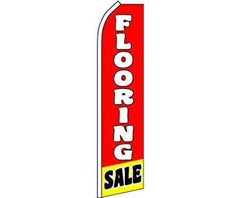 ALBATROS Flooring Sale Red White Swooper Super Feather Advertising Flag for Home and Parades, Official Party, All Weather Indoors Outdoors -