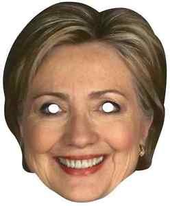 Hillary Clinton Paper Mask Democrat Fancy Dress Up Halloween Costume Accessory ()