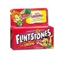 Flintstones Childrens Multivitamin Supplement With Iron Chewable Tablets, 60 each (Pack of 6) by Flintstones Vitamins