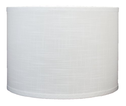 Urbanest Linen Drum Lamp Shade, 14-inch By 14-inch By 10-inch, Off ...
