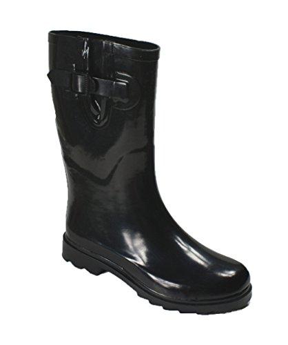 OwnShoe Rubber Styles Snow Shoe Rain Womens Flat Black Multiple Short Rainboot Mid Winter Own Calf zqBagz