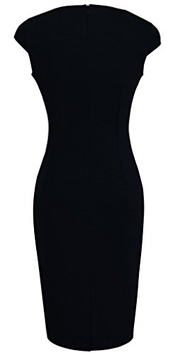 Mujer Negro Para B231 Homeyee Larga Manga Túnica Vestido qgxHXRw0