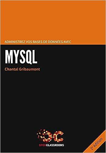 Livre Administrez vos bases de données avec MySQL