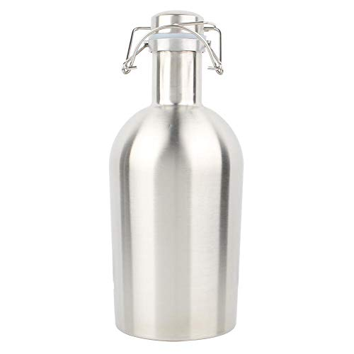 2L Portable Stainless Steel Swing Cover Beer Keg Barrel Liquor Bottle Wine Pot with Sealing Lid bar ware