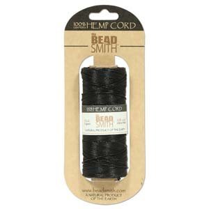 Hemp Twine Bead Cord .5mm 394 Feet BLACK ()