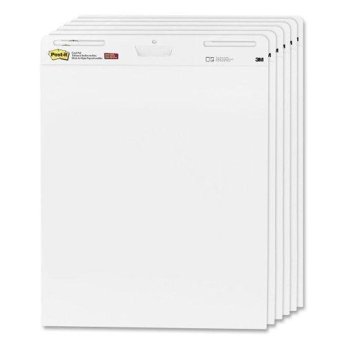 3M Post-it Self-Stick Easel Pads-Easel Pad,Self-stick,Plain,30 Sheets,25''x30',6/CT,White